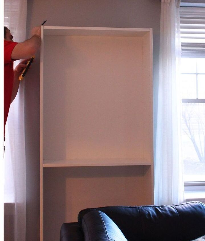 hiding an ugly wall unit air conditioner ikea billy hack, hvac, living room ideas, painted furniture