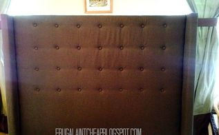 restoration hardware inspired tufted headboard, bedroom ideas, how to, reupholster