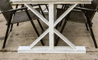diy farmhouse table shanty 2 chic ana white knock off, diy, outdoor furniture, painted furniture, pallet, repurposing upcycling, rustic furniture, woodworking projects