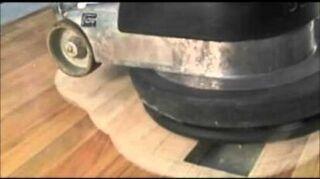 , wood floor prep with a common floor buffer