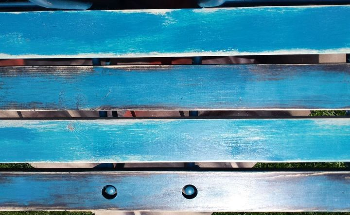 bench from 2 old metal chairs, outdoor furniture, painted furniture, repurposing upcycling