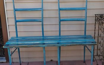 Bench From 2 Old Metal Chairs