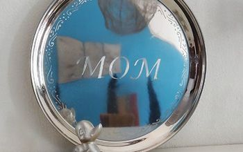 Engrave Stainless Steel Tray for Mother's Day Gift