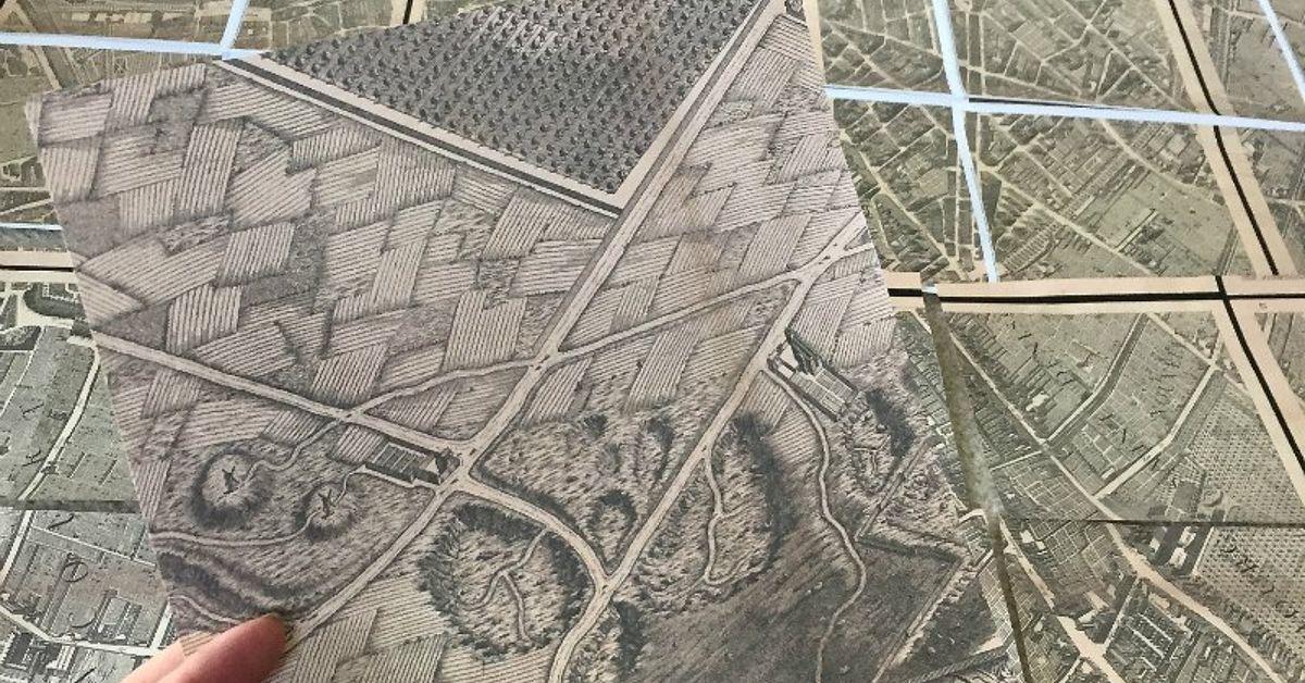 Knock Off Restoration Hardware Paris Map Art Hometalk - Restoration hardware paris map