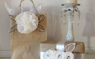 coffee filter gift wrap, crafts, how to, repurposing upcycling