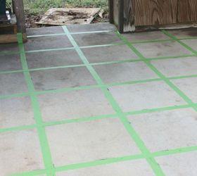 Lovely 1930 Floor Tiles Tiny 2 X 4 Ceiling Tiles Solid 2 X 8 Subway Tile 4X2 Ceiling Tiles Old 6 X 24 Floor Tile White6 X 6 White Ceramic Tile Faux Tile Painted Concrete Floor | Hometalk