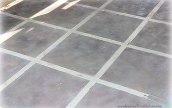 The Flip That Was Almost A Flop- Faux Tile Floor #30Dayflip