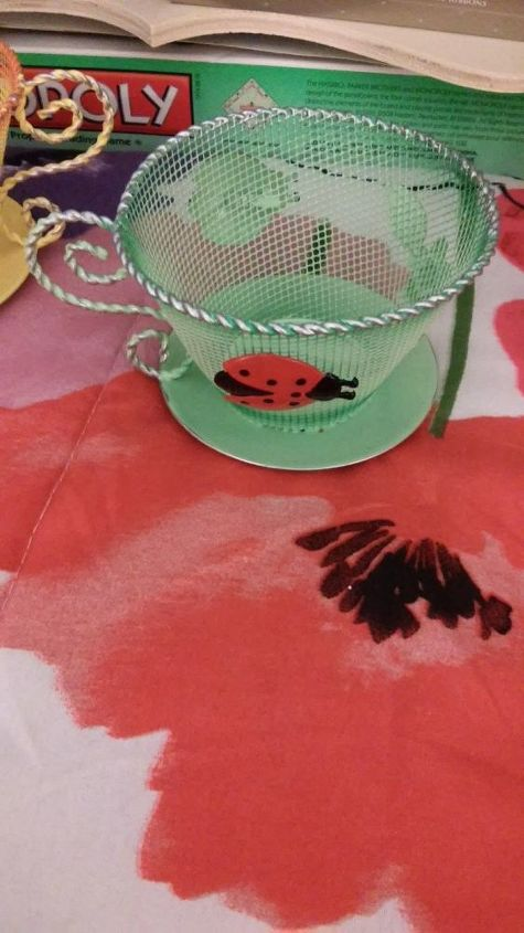 q craft idea for tea cup, crafts, how to, repurposing upcycling, It is labeled as a patio candle holder