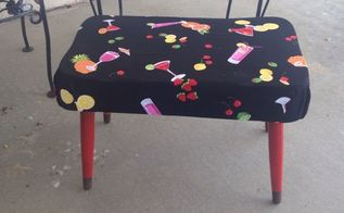 from old to new again, outdoor furniture, painted furniture, reupholster