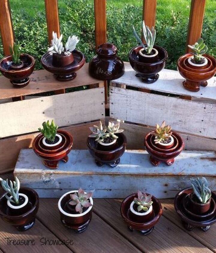 ceramic insulator succulent planters, container gardening, flowers, gardening, repurposing upcycling, succulents