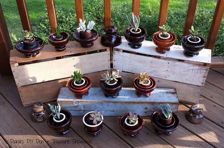 Repurposed Ceramic insulator to Succulent Planters | Hometalk