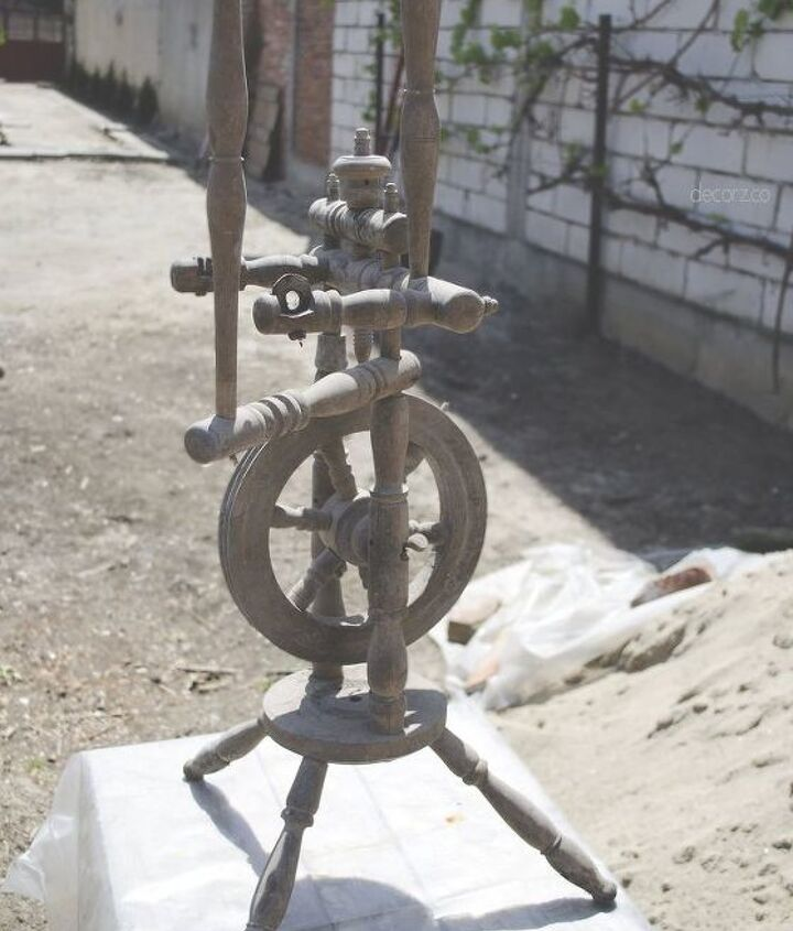 great grandmothers spindle, cleaning tips, repurposing upcycling