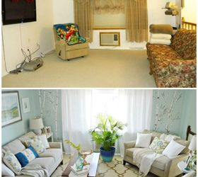 living room and dining room makeover on