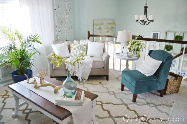 Living room and dining room makeover on a budget hometalk for Raised ranch living room design
