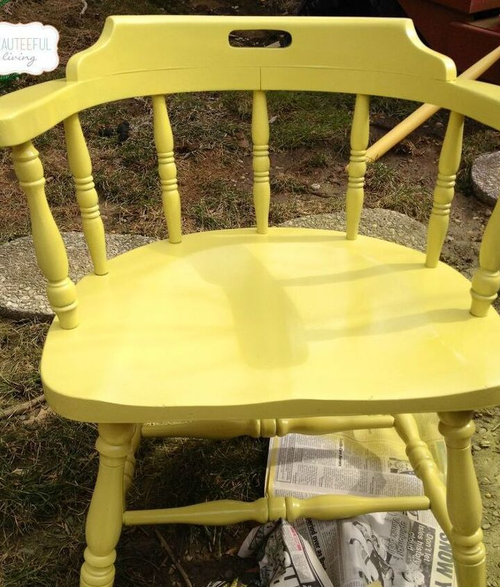 How the chair looked after 3 light coats.