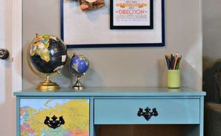 kid s desk makeover, painted furniture