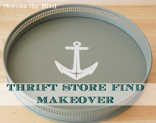 coastal makeover for a thrift store tray, chalk paint, crafts, how to