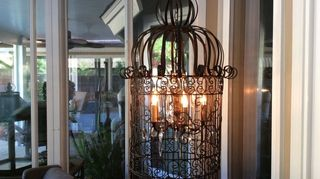 q how do i help this rusty vintage birdcage, crafts, repurposing upcycling