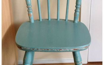 makeover of a pine kitchen chair with chalk paint, chalk paint, painted furniture