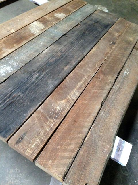 Rustic Wood Farmhouse Table Top From Reclaimed Lumber Buildit Diy How To Painted