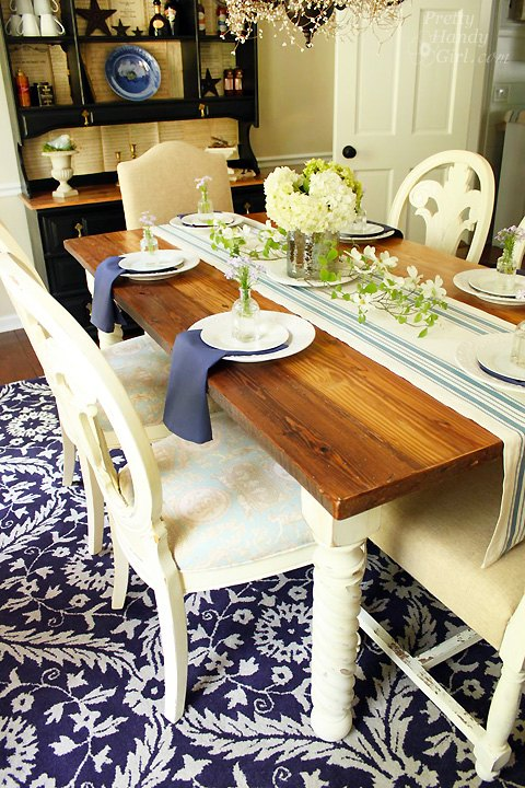 rustic wood farmhouse table top from reclaimed lumber buildit, diy, how to, painted furniture, repurposing upcycling