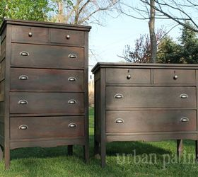 Antique Industrial Dresser Set, Painted Furniture, Repurposing Upcycling