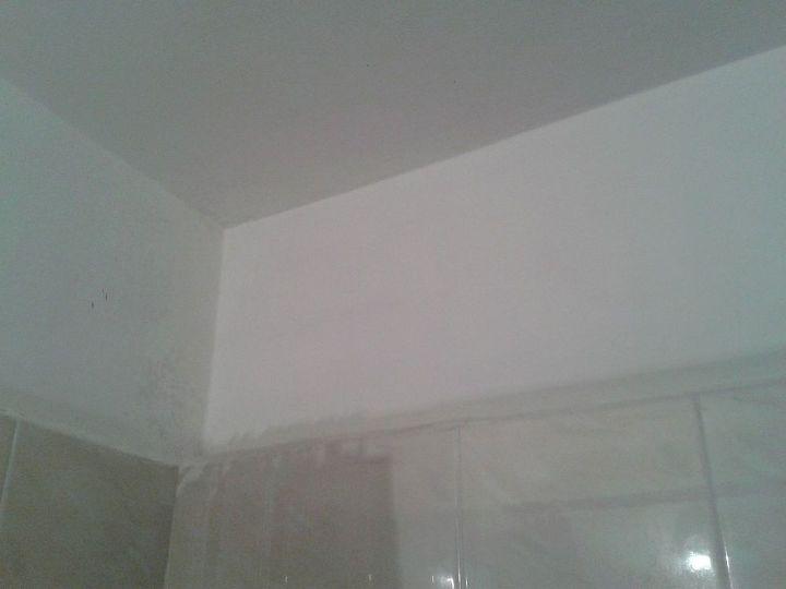 My bathtub ceiling is back to its' shining glory!