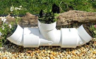 pvc pipe planter, container gardening, gardening, repurposing upcycling