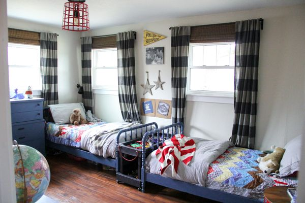 Vintage Modern Boys Room Decor