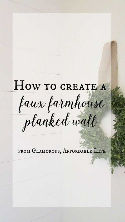 how to create a faux farmhouse planked wall, bathroom ideas, diy, how to, small bathroom ideas, wall decor, woodworking projects