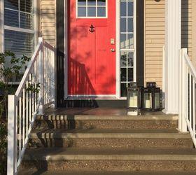 a little front door love curb appeal doors painting New Door With & Painted Front Door | Hometalk