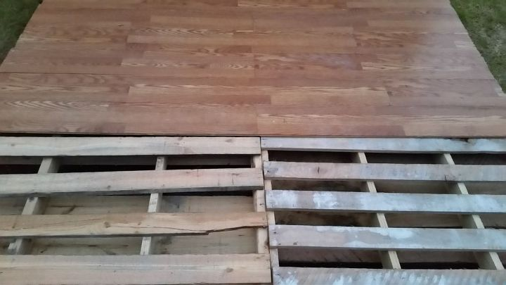 diy pallet basketball court, diy, how to, outdoor furniture, pallet, repurposing upcycling