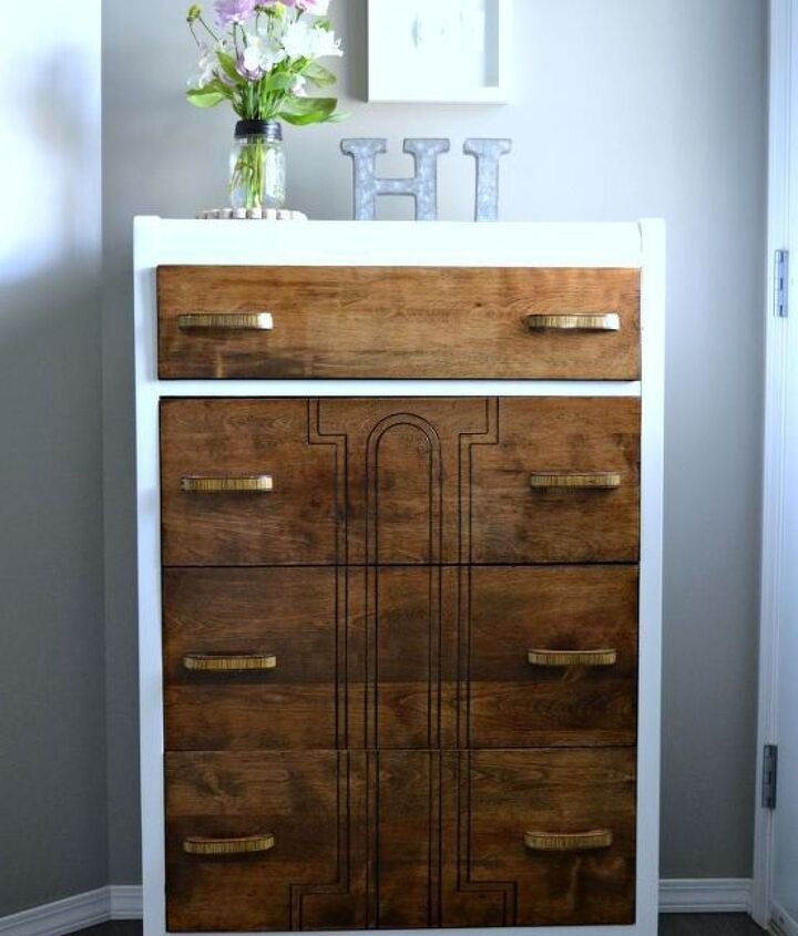 fab 5 dresser makeover, chalk paint, painted furniture