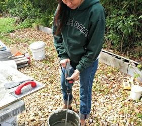 orgeous DIY Stamped Concrete Tile Driveway on a Tight Budget