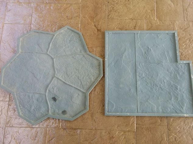 Fresh Gorgeous DIY Stamped Concrete Tile Driveway For Less