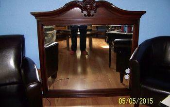 Large heavy dresser mirror