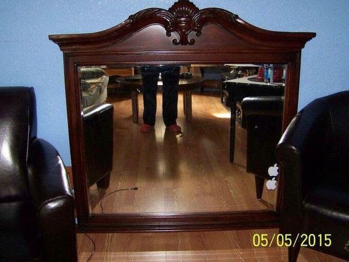 Large Heavy Dresser Mirror Hometalk, What To Do With A Dresser Mirror