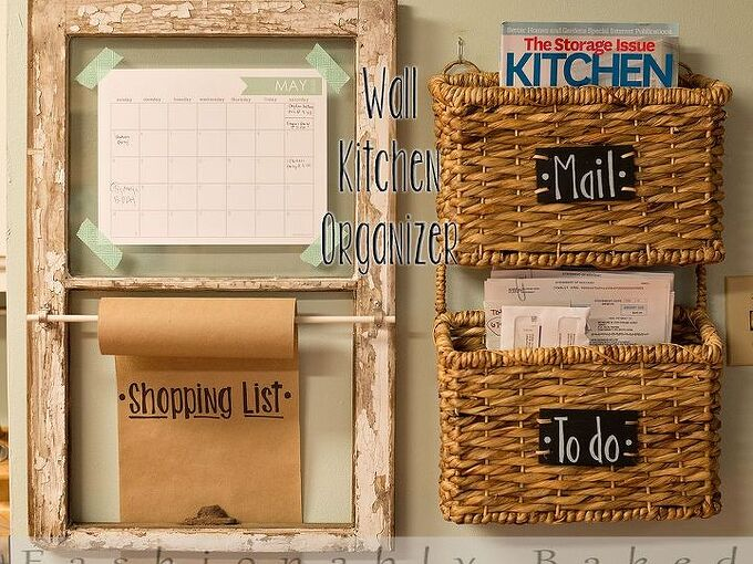 wall kitchen organizer, crafts, kitchen design, organizing, repurposing upcycling, Wall Kitchen Organizer by Fashionably Baked