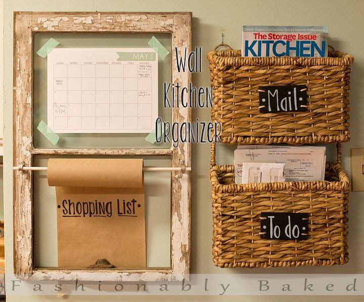 Wall Kitchen Organizer by Fashionably Baked