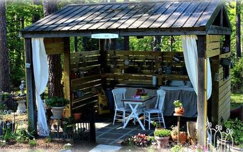 transforming an ugly fishing shed to a pretty potting shed 30dayflip, gardening, outdoor living
