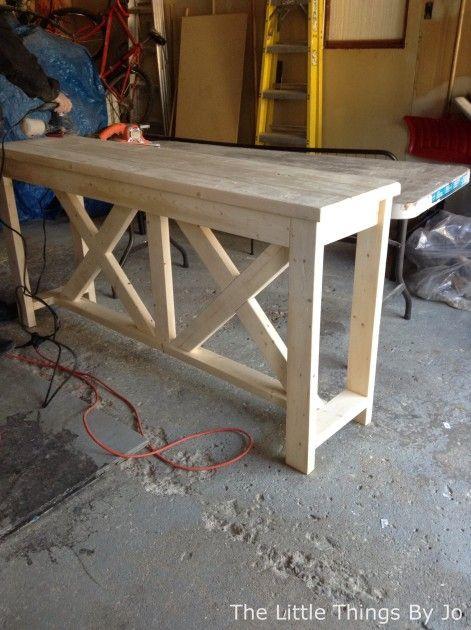 Finest DIY Rustic Console Table | Hometalk WM46