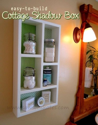 Diy Cottage Wall Shadow Box Shelving Bathroom Ideas Small