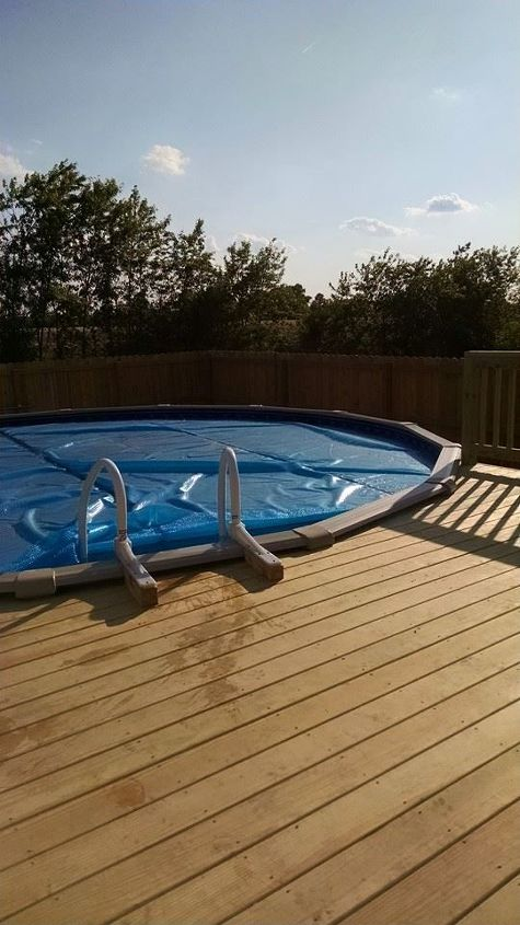 q ok paint experts new deck installed for our salt water pool paint, decks, outdoor living, painting, pool designs