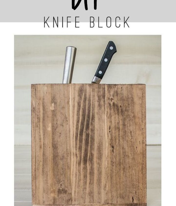 anthropologie inspired diy knife block, crafts, diy, how to, organizing, storage ideas, woodworking projects