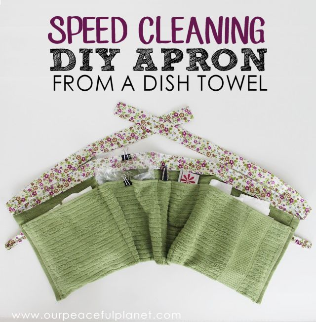speed cleaning apron, cleaning tips, crafts, how to