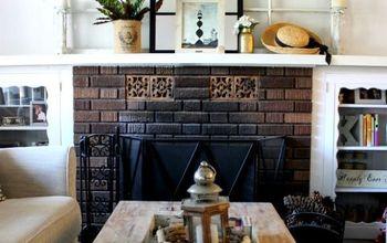 summer mantel, fireplaces mantels, repurposing upcycling