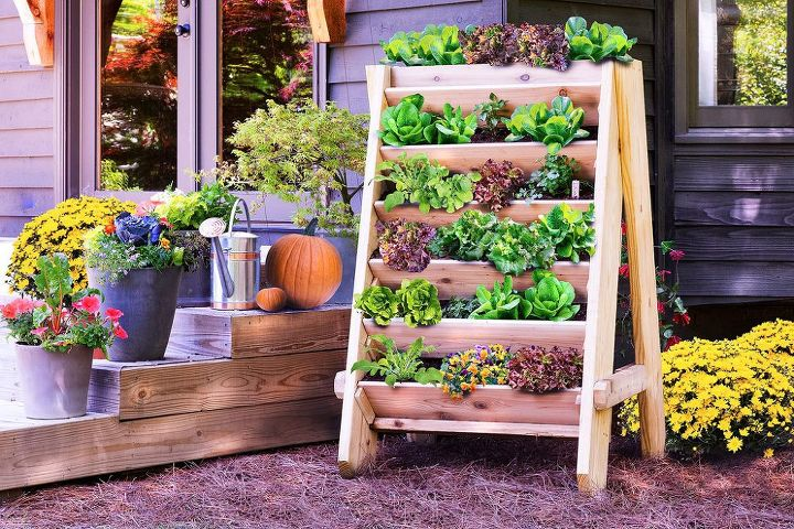 q what vegetables would grow well in a vertical garden, container gardening, gardening, homesteading