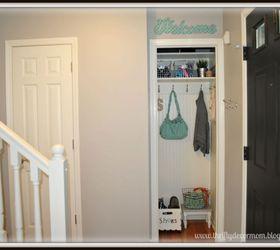 Coat Closet Turned Mini Mudroom, Closet, Foyer, ...