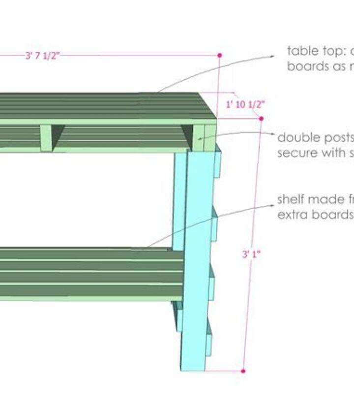 two pallet potting bench, gardening, outdoor furniture, painted furniture, pallet, repurposing upcycling