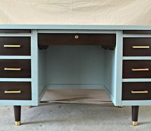 1950 s tanker desk redesign, painted furniture, repurposing upcycling